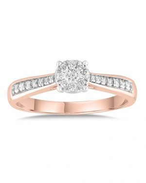 Diamantring • 585 Rotgold • 0,33ct Brillant BRI22969-R