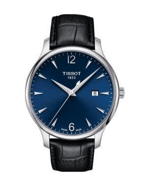 TISSOT Herrenuhr Tradition Lederband T063.610.16.047.00